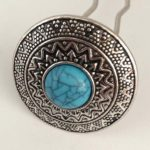 Silvered/Turquoise